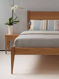bedroom modern mid century natural color walnut king size