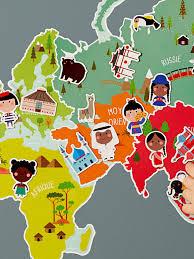 weltkarte für kinderzimmer vertbaudet magnetweltkarte für kinder in mehrfarbig