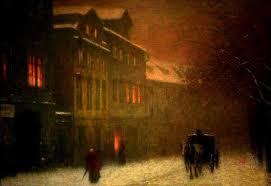 la chambre d 馗oute magritte jakub schikaneder 1855 1924 ulice s drožkou v zimním podvečeru