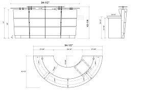 White Curved Reception Desk Glass U0026 Walnut Reception Desk Free Shipping