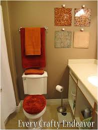 Thanksgiving Bathroom Decor Simple 50 Red And Brown Bathroom Decorating Ideas Design