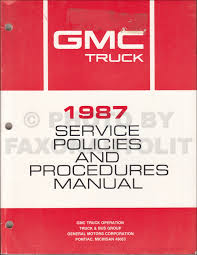 1987 gmc medium duty truck repair shop manual original 4000 7000