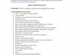 Resume For Medical Secretary Homely Design Monster Resume Samples 7 Resume Examples Monster