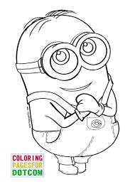 print eyed minion coloring download printable