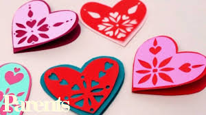 valentine s easy valentine s day craft paper snowflake hearts parents youtube