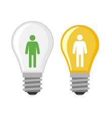 Flat Light Bulb Light Bulb Royalty Free Vector Image Vectorstock