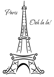 Eiffel Tower Garden Decor Eiffel Tower Paris Ooh La La Wall Deco Vinyl Decal Wall Art