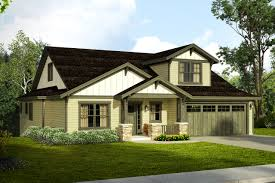 new craftsman house plan for a downhill sloped lot associated