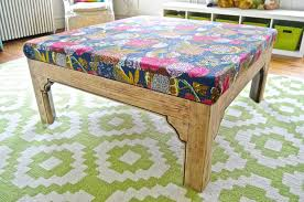 coffee table to ottoman makeover