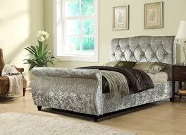 Velvet Sleigh Bed Mirage Velvet Sleigh Bed Vine Dine King Bed Ideas Velvet
