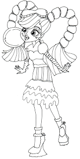 free printable monster high coloring pages draculaura sweet