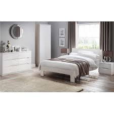 Manhattan Bedroom Furniture Julian Bowen Manhattan White High Gloss Wide Chest Furniture123