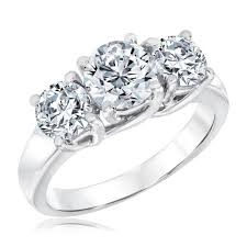 diamond rings round images Ellaura journey three stone round diamond ring 2 1 2ctw item jpg