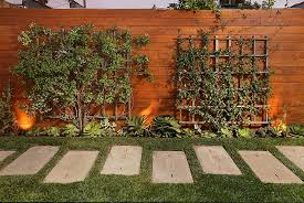 Modern Backyard Fence by Creative Idea Modern Outdoor Home Design With High Grey Modern
