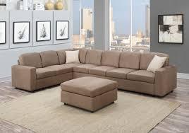 Contemporary Microfiber Sofa Living Room Large Microfiber U Shape Sectional Sofa Mocha Sofas