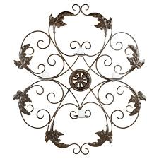 Candle Wall Sconces Wrought Iron Ivy And Leaf Wrought Iron Medallion Candle Wall Sconce 32 3h In