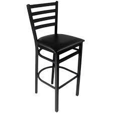 Black Bar Stool Bfm Seating 2160bblv Sb Lima Sand Black Steel Bar Height Chair