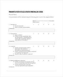 presentation feedback forms template websitepresentation com