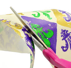mardi gras paper party ideas by mardi gras outlet curled paper bow gift wrap with