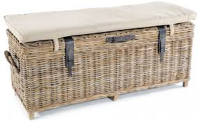 Wicker Kitchen Furniture Furniture Adorable Brown Wicker Astonishing Rattan Bench For Home