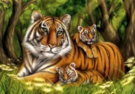 tiger and cubs tiger paint family welcome to fiction