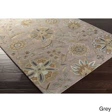 Area Rug 6 X 9 Tufted Pad Floral Wool Area Rug 6 X 9 Ebay