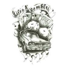 casino dice tattoo design photo 3 photo pictures and sketches