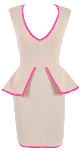 u0026 neon pink peplum crepe dress my style haves want and