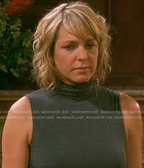 nicole from days of our lives haircut nicole s grey sleeveless turtleneck top on days of our lives