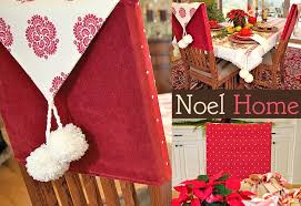 christmas chair back covers noel home classic chair back covers sew4home