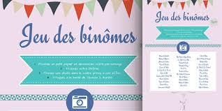 jeux gratuit de mariage mariage le jeu des binômes bloom events
