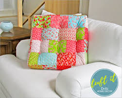 Sewing Patterns For Home Decor Square Patchwork U0026 Tufted Couch Cushion Dritz Home Decor