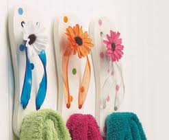 themed wall hooks flip flop wall hooks for the themed bathroom
