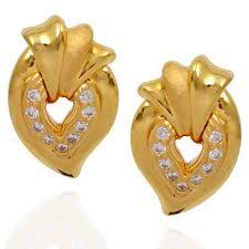 gold earring studs designs earrings designer gold mango stud grt jewellers
