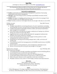 retail manager resume 2 retail management resume exles best manager exle of 1a