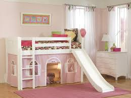 ideas tent bunk beds loft bed with pink white painted wooden