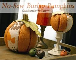 Fall Decorating Projects - easy no sew burlap pumpkins for your fall decorating crafts u0027n