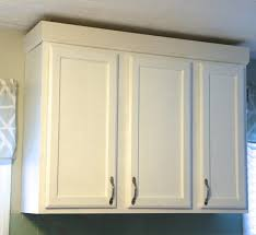 how to do crown molding on kitchen cabinets adding crown molding to your kitchen cabinets weekend craft