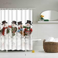 lfh santa claus shower curtain merry christmas pattern waterproof