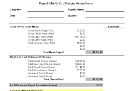 Payroll Reconciliation Excel Template Payroll Controls And Procedures Vitalics