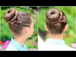 howtododoughnut plait in hair how to create a bow bun prom hairstyles youtube