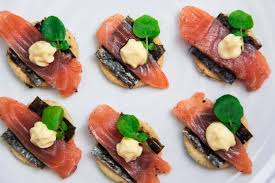 cuisine canapé home cured salmon canapés with seaweed crackers simple yet