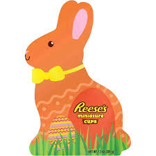 reese s easter bunny reese s miniatures cups in easter bunny box 6 9 oz walmart