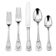 Modern Flatware Sets by Cuisinart French Rooster Collection 20 Piece Flatware Set In