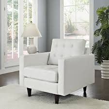 White Leather Armchairs Empress Leather Armchair White Buy Online At Best Price Sohomod