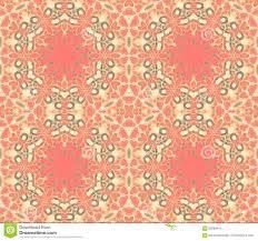 seamless ornate hexagon pattern pastel red orange beige green