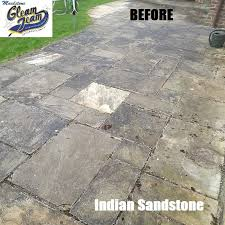How To Remove Lichen From Patio Patio Cleaning Maidstone Indian Sandstone Specialist Cleaners