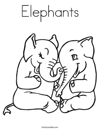 elephant love coloring page elephants coloring page twisty noodle