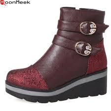 womens boots black sale moonmeek 2018 sale arrive boots black gray wine