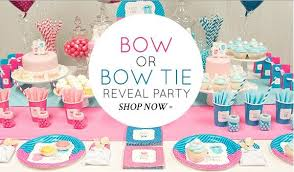 gender reveal party decorations gender reveal baby shower idea bow or bow tie reveal party